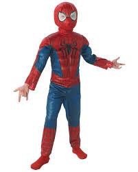 spiderman halloween costumes child deluxe spider man costume by rubies 880604 walmart com