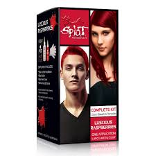 temporary hair color for halloween splat luscious raspberries rebellious color kit semi permanent
