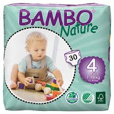 maxi size bambo nature disposable nappies maxi size 4 pack of 30 bambo