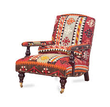 george smith armchair an english kilim upholstered armchair by george smith late