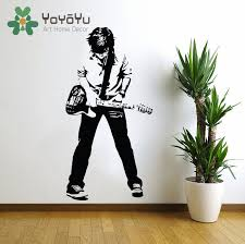 compare prices on guitar wall decor online shopping buy low price teenage rockstar rock and roll wall decal art home wall decor sticker poster vinyl teen boys