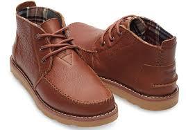 toms brown full grain leather men u0027s chukka boots in brown for men