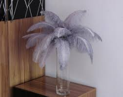 Ostrich Feathers For Centerpieces by Grey Ostrich Feather Etsy