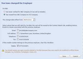 change employer wizard workbooks support