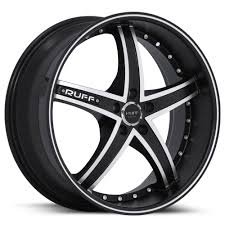 black wheels 20 inch ruff racing black rims r953 5 lug 05 17 sizes available