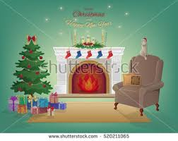 home interiors and gifts candles merry home interior fireplace stock photo photo