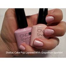 cnd creative nail design shellac power polish grapefruit sparkle