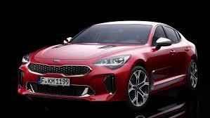 2018 kia stinger debuts as rwd sports sedan shaped middle finger
