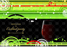 cocktail party invitation invitation for cocktail party wine glass on green black