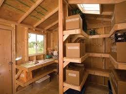 shed interior interior shelving and workbench by tuff shed storage buildings