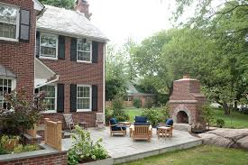 Outdoor Fireplace Surround by Outdoor Fireplace Pictures Patio Traditional With Red Brick Column