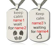 his and hers dog tags personalized his and hers dog tag necklaces titanium steel