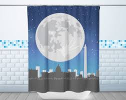 Dc Shower Curtain Space Shower Curtain Etsy