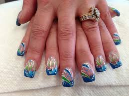 clearly blue nail art designs by top nails clarksville tn top