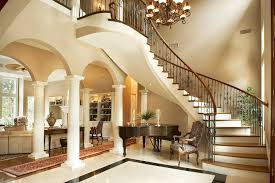 classic columns entry contemporary with grand piano traditional