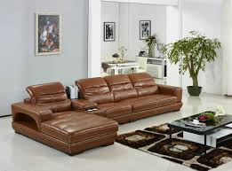 Cow Leather Sofa Offer Modern Top Grain Cow Leather Corner Sofa Set With Ottomma