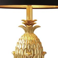 Pineapple Light Fixtures Pineapple Table Lamp Complete With Shade Gold Eames Lighting