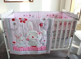 Nursery Bed Set 7pc Crib Infant Room Baby Bedroom Set Nursery Bedding Pink