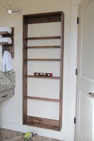 my cabinet place diy bathroom mirror storage shanty 2 chic