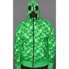 minecraft costume halloween city buy minecraft creeper premium zip up hoodie for adults