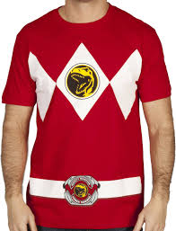 Halloween Costumes T Shirts by Red Ranger Costume T Shirt Mighty Morphin Power Rangers