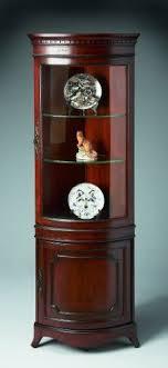 curved corner curio cabinet pair drexel travis court mahogany corner cabinets on corner china