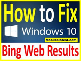 how to disable bing web results in windows 10 s search how to disable remove bing web results in windows 10 search