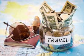 travel money images Travel budget concept travel money savings in a glass jar with jpg