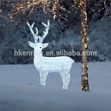 120cm led light up acrylic reindeer outdoor decoration