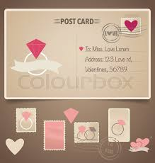 wedding cards design vintage postcard background and postage sts for wedding card