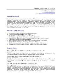 agile resume resume templates