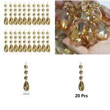 Teardrop Crystals Chandelier Parts 20pcs Crystal Teardrop Chandelier Prisms Pendants Parts Beads