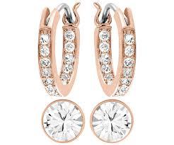 sheena pierced earrings swarovski sheena silverni earrings 1144264 swarovski rings