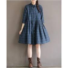 waist plaid dress