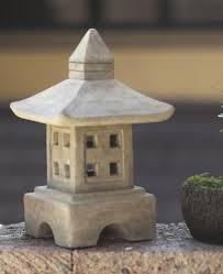 japanese style zen garden lantern cast stone japanese stone