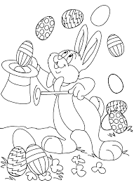 print bunny easter egg magic show coloring pages or download bunny