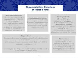 reglementation chambres d hotes réunion chambres d hôtes 2014