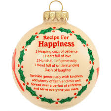 recipe for happiness glass ornament hungary made european made