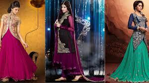 latest indian jacket style dresses u0026 gowns anarkali suits 2017 18