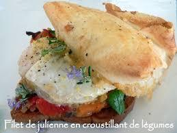 cuisiner filet de julienne recette de filet de julienne en croustillant de légumes la recette