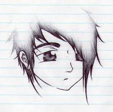 emo boys face sketches photo drawing of sketch