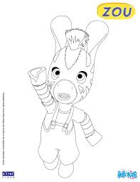 zou the little zebra free coloring pages hellokids com
