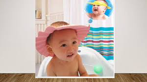 baby shower hat adjustable baby kids shoo bath bathing shower cap hat wash hair