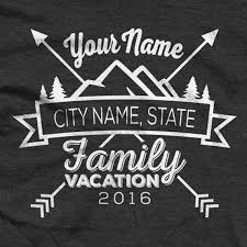custom family cing in moutains vacation shirts family cing