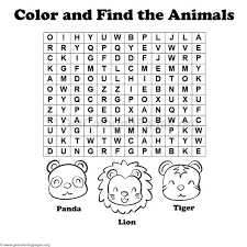 Animal Word Search Coloring Pages 1 Getcoloringpages Org Coloring Pages For 10 Year Olds