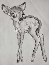 sketch i did as a teenager from a how to draw bambi book disney