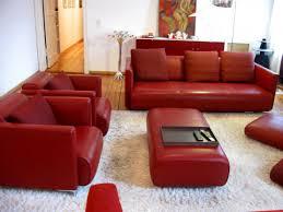 rolf sofa leder wunderschöne rolf polstergruppe 6300 leder rot sofas