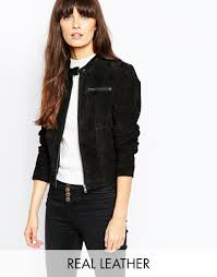 biker jacket sale vero moda suede biker jacket in black lyst