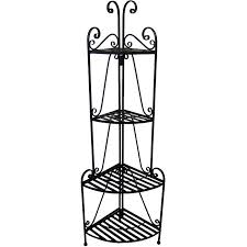 Bakers Rack Wrought Iron Chic Wrought Iron Corner Bakers Rack Bakers Racks Metal Wood
