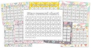 printable reward charts fill in the stars myriacolor chart